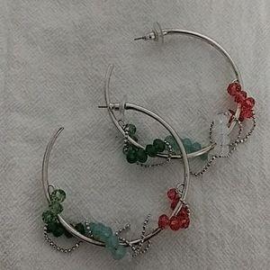 2 pairs of swarvoski earrings